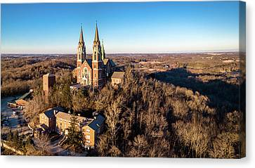 Canvas Print featuring the photograph Holy Hill In January by Randy Scherkenbach