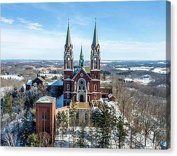 Canvas Print featuring the photograph Holy Hill In The Snow by Randy Scherkenbach