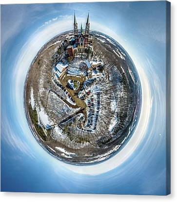 Canvas Print featuring the photograph Holy Hill Little Planet by Randy Scherkenbach