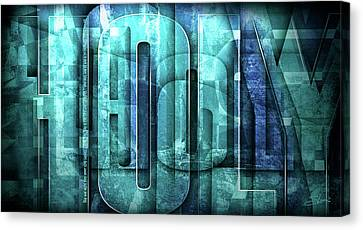 Canvas Print featuring the mixed media Holy Holy Holy by Shevon Johnson
