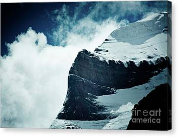 Tibetan Buddhism Canvas Print - Holy Kailas West Slop Himalayas Tibet Artmif.lv by Raimond Klavins