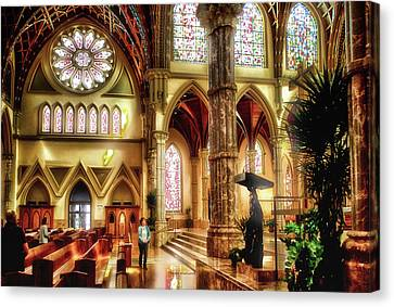 Holy Name Cathedral Chicago 04 Canvas Print by Thomas Woolworth