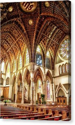 Holy Name Cathedral Chicago 12 Canvas Print by Thomas Woolworth