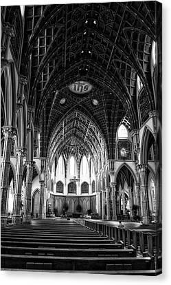 Francis Canvas Print - Holy Name Cathedral Chicago Bw 04 by Thomas Woolworth
