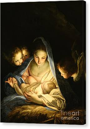 Madonna And Child Canvas Print - Holy Night by Carlo Maratta