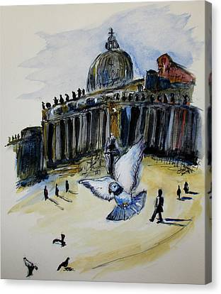 Holy Pigeons Canvas Print