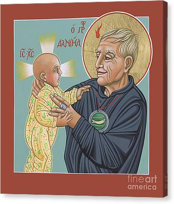 Canvas Print featuring the painting Holy Prophet Daniel Berrigan 291 by William Hart McNichols