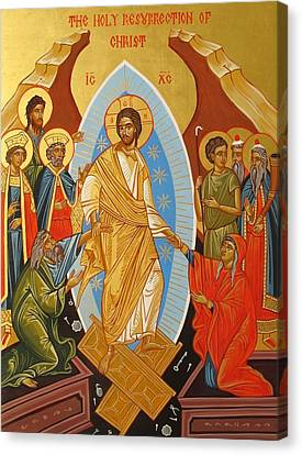 Holy Resurrection Of Christ Canvas Print by Andreea Bagiu