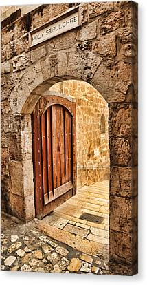Holy Sepulchre Entrance Canvas Print by Stephen Stookey