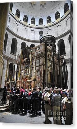 Holy Sepulchre  Canvas Print by Shay Levy