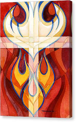 Pentecost Canvas Print - Holy Spirit by Mark Jennings