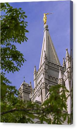 Downtown Canvas Print - Holy Temple by Chad Dutson