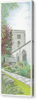 Holy Trinity Church Clock Bolton Le Sands Lancashire Canvas Print by Sandra Moore