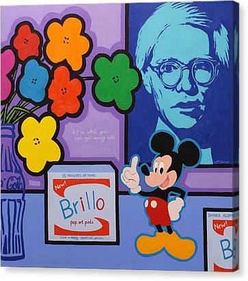 Homage To Andy Warhol Canvas Print