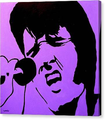 Homage To Elvis Canvas Print by John  Nolan