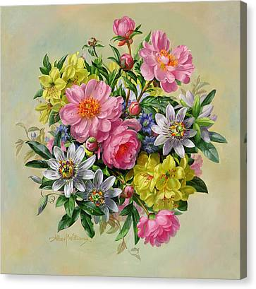 Passiflora Canvas Print - Homage To Her Majesty The Queen Mother by Albert Williams