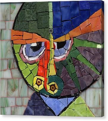 Homage To Klee - Fantasy Face No.4 Canvas Print