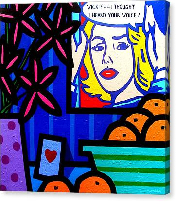 Homage To Lichtenstein -  Still Life Canvas Print by John  Nolan