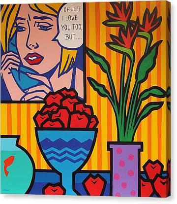 Homage To Lichtenstein And Wesselmann Canvas Print
