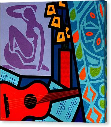 Homage To Matisse II Canvas Print by John  Nolan