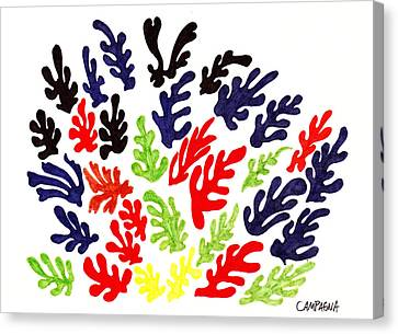 Homage To Matisse Canvas Print by Teddy Campagna