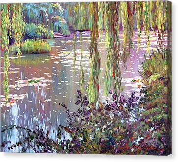 Impressionist Landscape Canvas Print - Homage To Monet by David Lloyd Glover