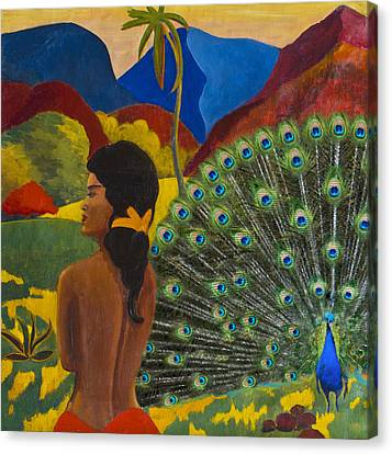 Homage To Paul Gauguin Canvas Print