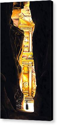Petra Canvas Print - Homage To Petra by Richard Young
