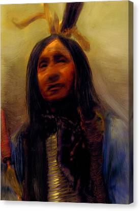 Canvas Print featuring the painting Homage To The Ancient Ones by FeatherStone Studio Julie A Miller