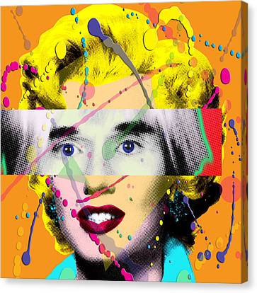 Homage To Warhol Canvas Print by Gary Grayson