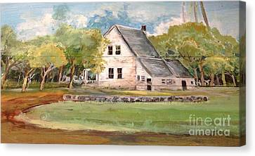 Canvas Print featuring the painting Home Again by Linda Shackelford