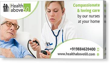 Home Care Nursing In Chennai Canvas Print