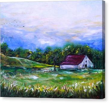 Canvas Print featuring the painting Home by Emery Franklin
