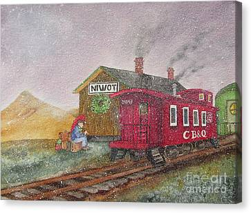 Home For Christmas Canvas Print by Donlyn Arbuthnot