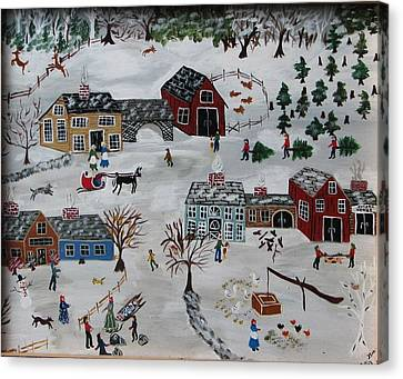 Home For The Hoildays Canvas Print by Lee Gray