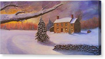 Home For The Holidays Canvas Print by Jean LeBaron