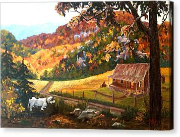 Home From The Hunt Canvas Print by Nyiece Pregeant Owens