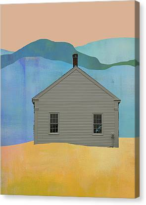 Old School House In New England Canvas Print by Jacquie Gouveia