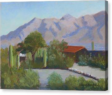 Home In The Catalinas Canvas Print