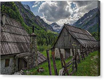 Canvas Print featuring the photograph Home In The Slovenian Alps #2 by Stuart Litoff