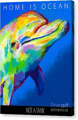 Canvas Print featuring the painting Home Is Ocean by Stephen Anderson