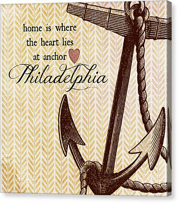Home Is Philadelphia Anchor 1 Canvas Print