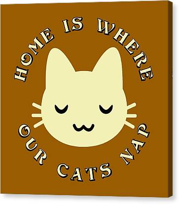 Catnap Canvas Print - Home Is Where Our Cats Nap by David G Paul