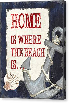 Home Is Where The Beach Is Canvas Print
