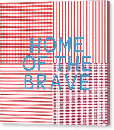 4th Canvas Print - Home Of The Brave- Art By Linda Woods by Linda Woods