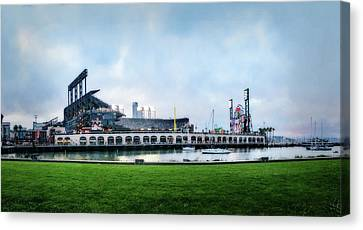 Baseball Park Canvas Print - Home Of The Giants by Terry Davis