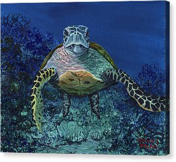 Canvas Print featuring the painting Home Of The Honu by Darice Machel McGuire