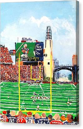 Home Of The Pats Canvas Print by Jack Skinner