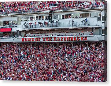 Home Of The Razorbacks Canvas Print