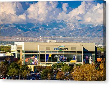 Home Of The Utah Jazz Canvas Print by TL  Mair